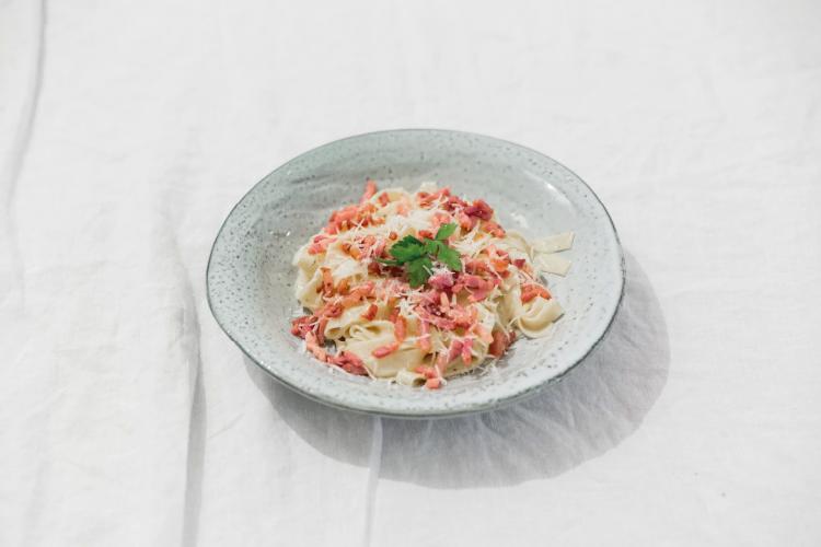 NOYR tiny house recept | Pasta carbonara