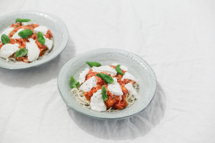 NOYR tiny house recept | Pasta met tomatensaus